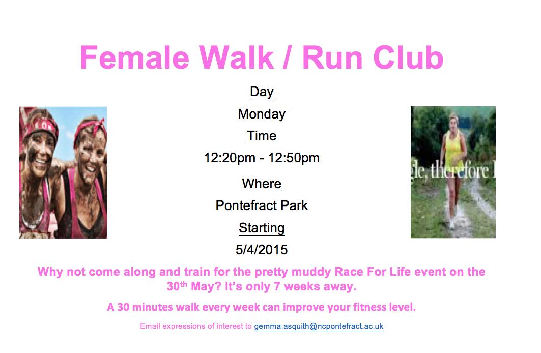 female walk run club