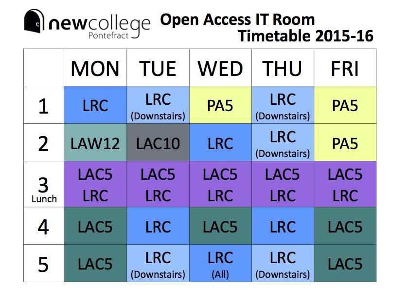 open access timetable